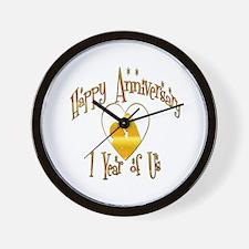 Funny 1st anniversary Wall Clock