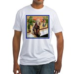 AT THE SPA Fitted T-Shirt