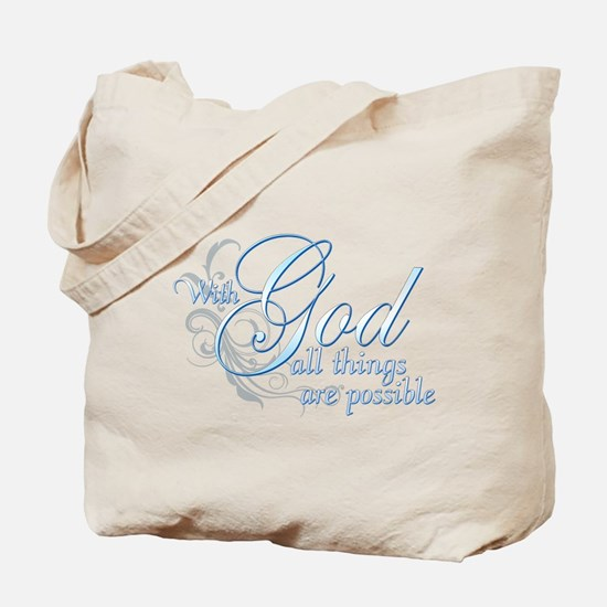 With God All Things are Possi Tote Bag