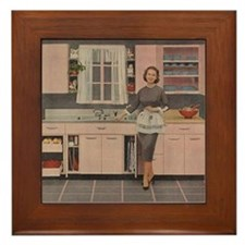 Happy Housewife Framed Tile
