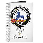 Crosbie Clan Crest Badge Journal