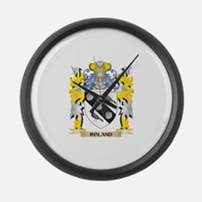 Roland Family Crest - Coat of Arm Large Wall Clock