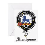 Stenhouse Clan Crest Badge Greeting Cards (Package