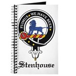 Stenhouse Clan Crest Badge Journal