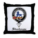 Stenhouse Clan Crest Badge Throw Pillow