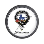 Stenhouse Clan Crest Badge Wall Clock