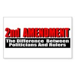 2nd Amendment Sticker (Rectangle 10 pk)