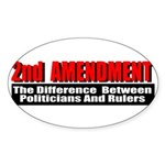 2nd Amendment Sticker (Oval 10 pk)