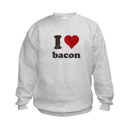 I heart bacon Kids Sweatshirt