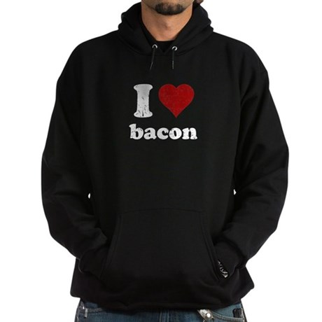 I heart bacon Hoodie (dark)