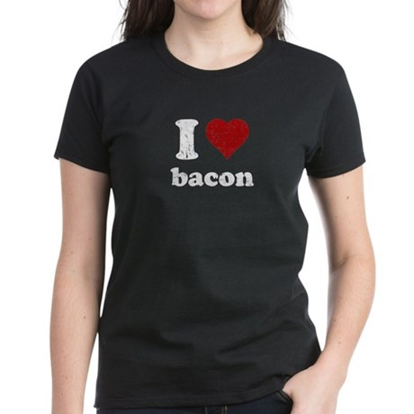 I heart bacon Women's Dark T-Shirt