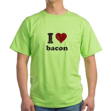 I heart bacon Green T-Shirt