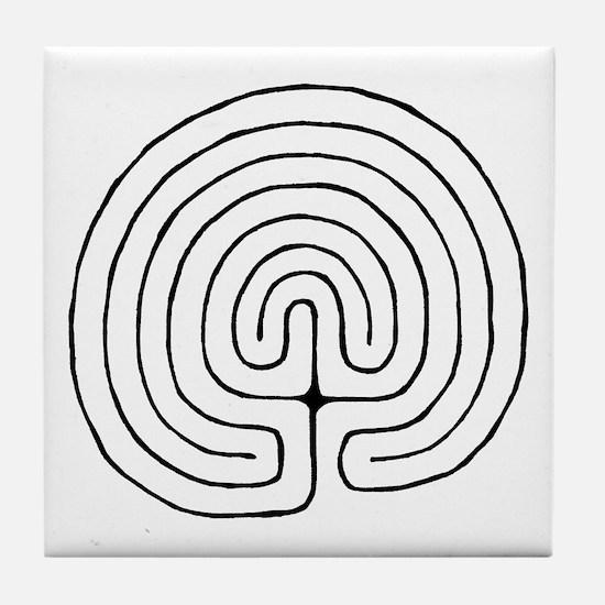 Unique Labyrinth Tile Coaster