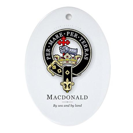 Clan MacDonald Oval Ornament
