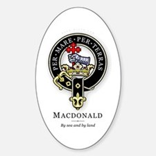 Clan MacDonald Oval Decal