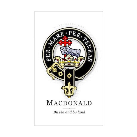 Clan MacDonald Rectangle Sticker