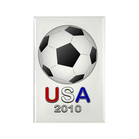 Soccer USA 2010 Rectangle Magnet (10 pack)