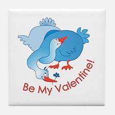 Geese Love Tile Coaster