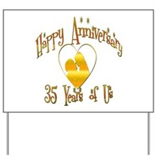 Cute 35th wedding anniversary Yard Sign