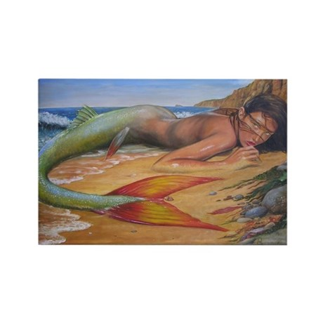 Dscn1840 beached mermaid finished yahoo Magnets