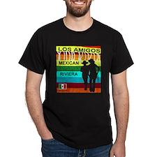 Los Amigos Mexican Riviera Black T-Shirt