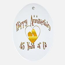 45th wedding anniversary Oval Ornament