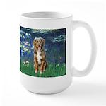 Lilies5-AussieShep (#5) Large Mug