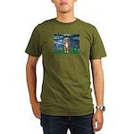 Lilies5-AussieShep (#5) Organic Men's T-Shirt (dar