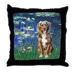 Lilies5-AussieShep (#5) Throw Pillow
