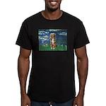 Lilies5-AussieShep (#5) Men's Fitted T-Shirt (dark
