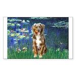 Lilies5-AussieShep (#5) Sticker (Rectangle 10 pk)