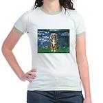 Lilies5-AussieShep (#5) Jr. Ringer T-Shirt