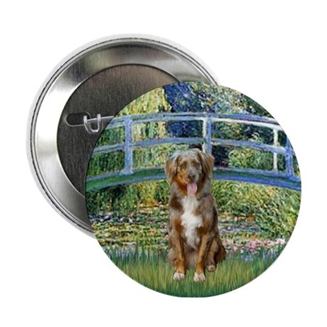 "Bridge-Aussie Shep (#5) 2.25"" Button"