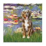 Lilies2-Australian Shep (#5) Tile Coaster