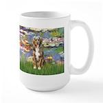 Lilies2-Australian Shep (#5) Large Mug