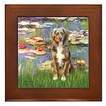 Lilies2-Australian Shep (#5) Framed Tile