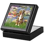 Lilies2-Australian Shep (#5) Keepsake Box