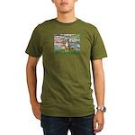 Lilies2-Australian Shep (#5) Organic Men's T-Shirt
