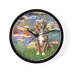 Lilies2-Australian Shep (#5) Wall Clock