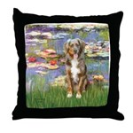 Lilies2-Australian Shep (#5) Throw Pillow
