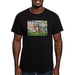 Lilies2-Australian Shep (#5) Men's Fitted T-Shirt