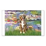 Lilies2-Australian Shep (#5) Sticker (Rectangle 10