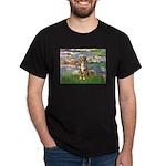Lilies2-Australian Shep (#5) Dark T-Shirt