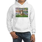 Lilies2-Australian Shep (#5) Hooded Sweatshirt