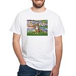 Lilies2-Australian Shep (#5) White T-Shirt