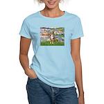 Lilies2-Australian Shep (#5) Women's Light T-Shirt