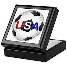 USA Soccer Ball Keepsake Box