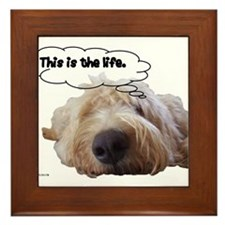 This is the life. Framed Tile