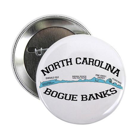 """Bogue Banks NC - Map Design 2.25"""" Button"""