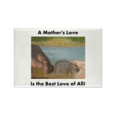 A Mother's Love is the Best L Rectangle Magnet